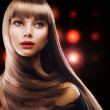 Beauty with Long Brown Hair — Stock Photo