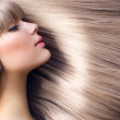 Blond Hair.Beautiful Woman with Straight Long Hair — Stock Photo
