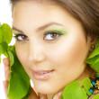 Spring Beauty Outdoor. Perfect Skin — Stock Photo