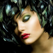 Mode-Kunst-Portrait. Make-up — Stockfoto