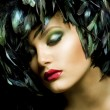 mode kunst portret. make-up — Stockfoto