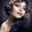 Stock Photo: Romantic Beauty. Retro Style