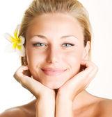 Beautiful Spa Girl Face — Stock Photo
