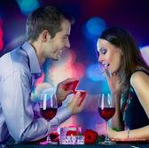 Walentynki. propozycja małżeństwa — Zdjęcie stockowe