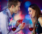 Valentine's Day. Marriage Proposal — Stock Photo