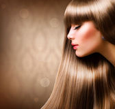Blond Hair.Beautiful Woman with Straight Long Hair — ストック写真