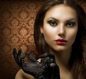 Fashion Art Portrait. Beautiful Woman — Stock Photo