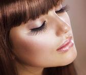 мода макияж. совершенной кожи — Стоковое фото