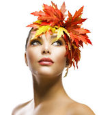 Autumn Beauty Makeup — Stock Photo