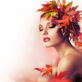 Autumn Beauty Fashion Portrait — Stock Photo