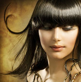 Beautiful Brunette. Egyptian Style — Stock Photo