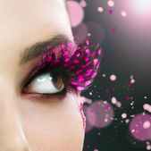 Beautiful Fashion Holiday Makeup — Stock Photo