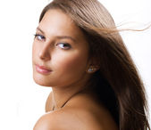 Beautiful Healthy Girl portrait — Stock Photo