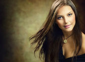 Beautiful Young Woman. Amazing Brunette — Stock Photo