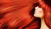 длинные здоровые волосы — Стоковое фото