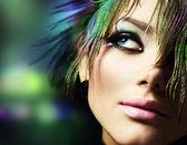 美しい女性の顔。完璧なメイク — ストック写真