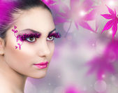 Beautiful Girl. Creative Fashion Makeup — Stock Photo