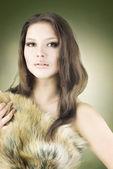 Beautiful Wild Girl Portrait — Stock Photo