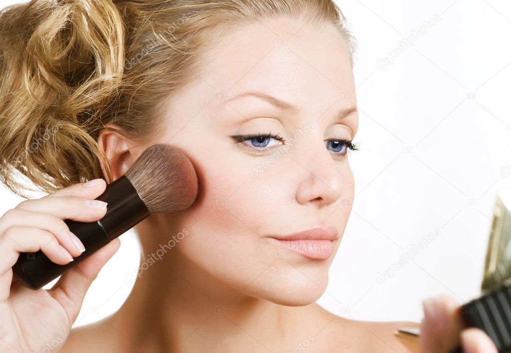 Beautiful Young Woman Face. Make-up Concept — Stock Photo #10604007