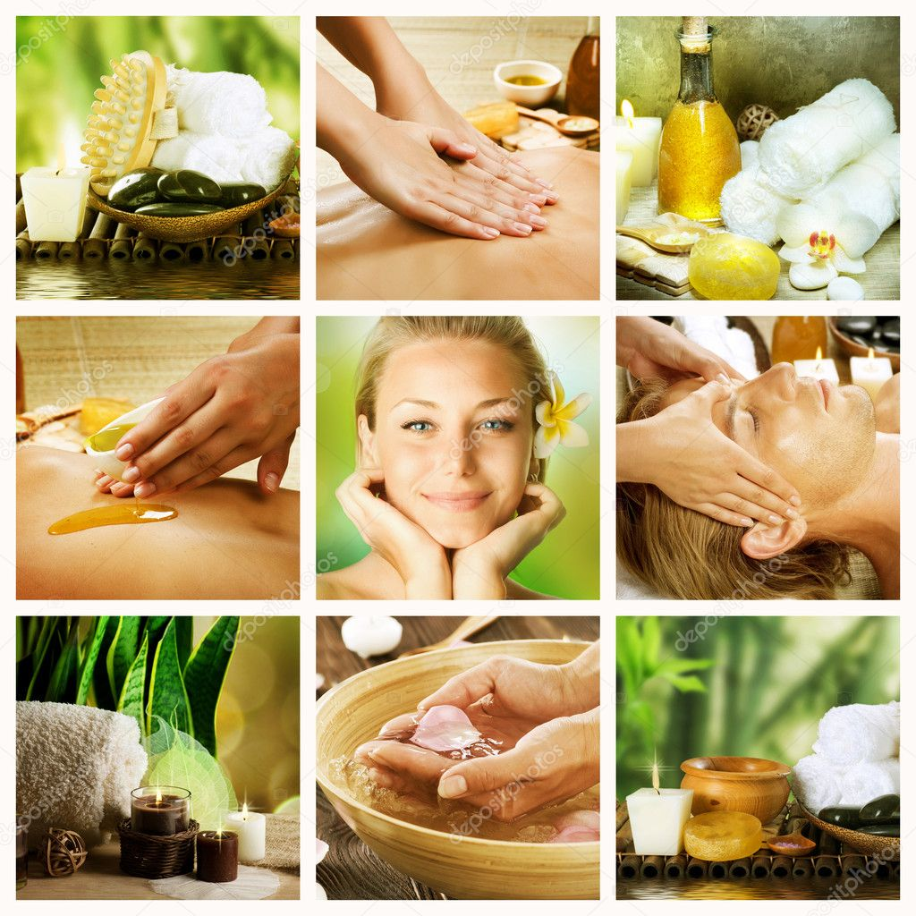 Spa Collage. Dayspa Concept — Stock Photo #10605050