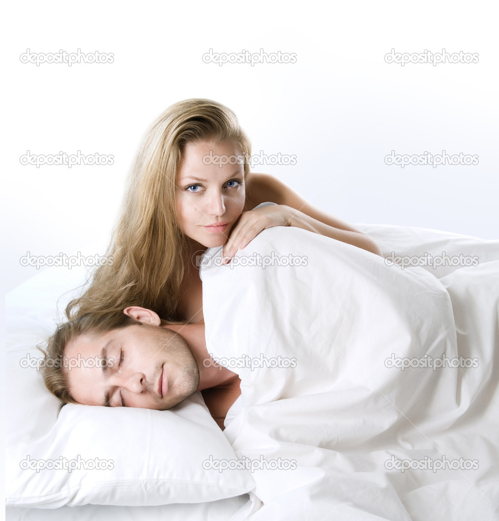 Couple In The Bed — Stock Photo #10605082