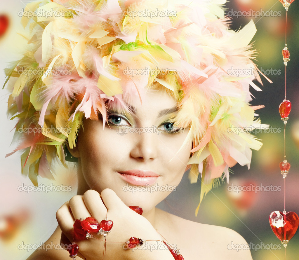 Funny Girl celebrating — Stock Photo #10605469
