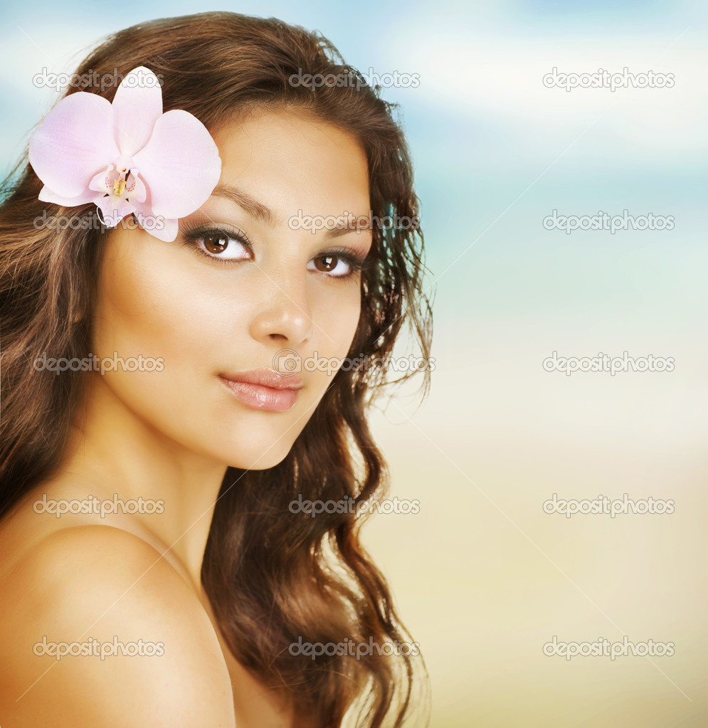 Beautiful Summer Woman on the Beach  Stock Photo #10605478