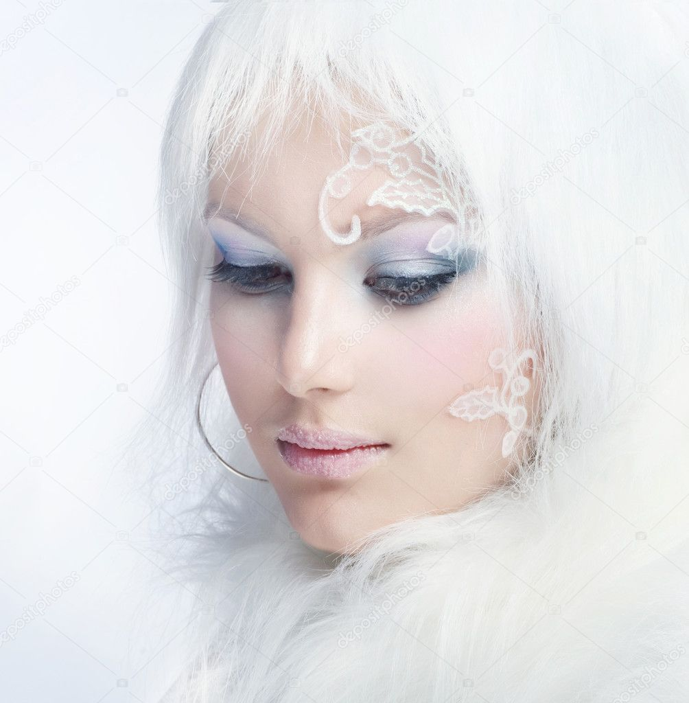 Creative Makeup Looks Creative Winter Makeup — Photo