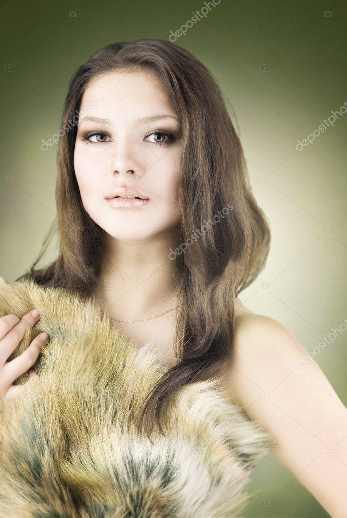 Beautiful wild girl portrait stock image