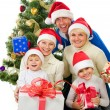 Christmas Family isolated on white — Stock Photo #10676132