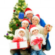 Christmas Family isolated on white — Stock Photo #10676134