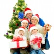 Royalty-Free Stock Photo: Christmas Family isolated on white