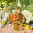 Happy Family in a Park. Picnic — Stock Photo #10676148