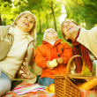 Happy Family in a Park. Picnic — Stock Photo #10676150