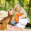 Happy Family in a Park. Picnic — ストック写真