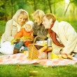 Happy Family in a Park. Picnic — Stock Photo #10676170