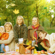 Happy Family in a Park. Picnic — Stock fotografie