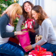 Royalty-Free Stock Photo: Christmas celebration. Friends with Christmas Gifts . New Year p