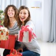 Christmas Party. Friends with Christmas Gifts — Stock fotografie #10676256