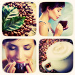 Coffee collage.Art Design - Stock Photo