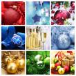 Christmas Holiday Collage — Stock Photo