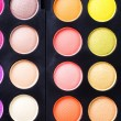 Makeup. Professional multicolor eyeshadow palette — Stock Photo