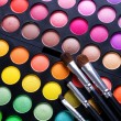 Makeup set. Professional multicolor eyeshadow palette — Stock Photo #10676735