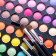 Makeup set. Professional multicolor eyeshadow palette — Stock Photo #10676739