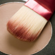 Makeup facial powder. Foundation — Stock Photo