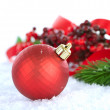 Christmas Decorations isolated on white — Stock Photo #10676768