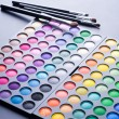 Makeup set. Professional multicolor eyeshadow palette — Stock Photo #10676772