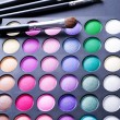 Stock Photo: Make-up. Professional multicolour eyeshadows palette