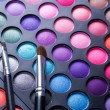 Makeup set. Professional multicolor eyeshadow palette — Stock Photo #10676800
