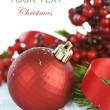 kerstversiering over Wit — Stockfoto #10676803